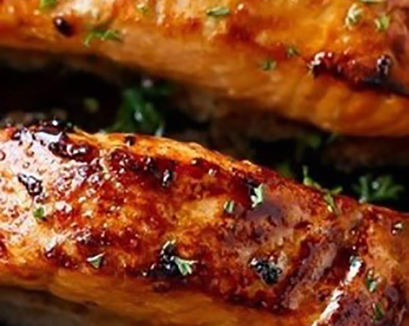 Honey and Garlic Roasted Salmon