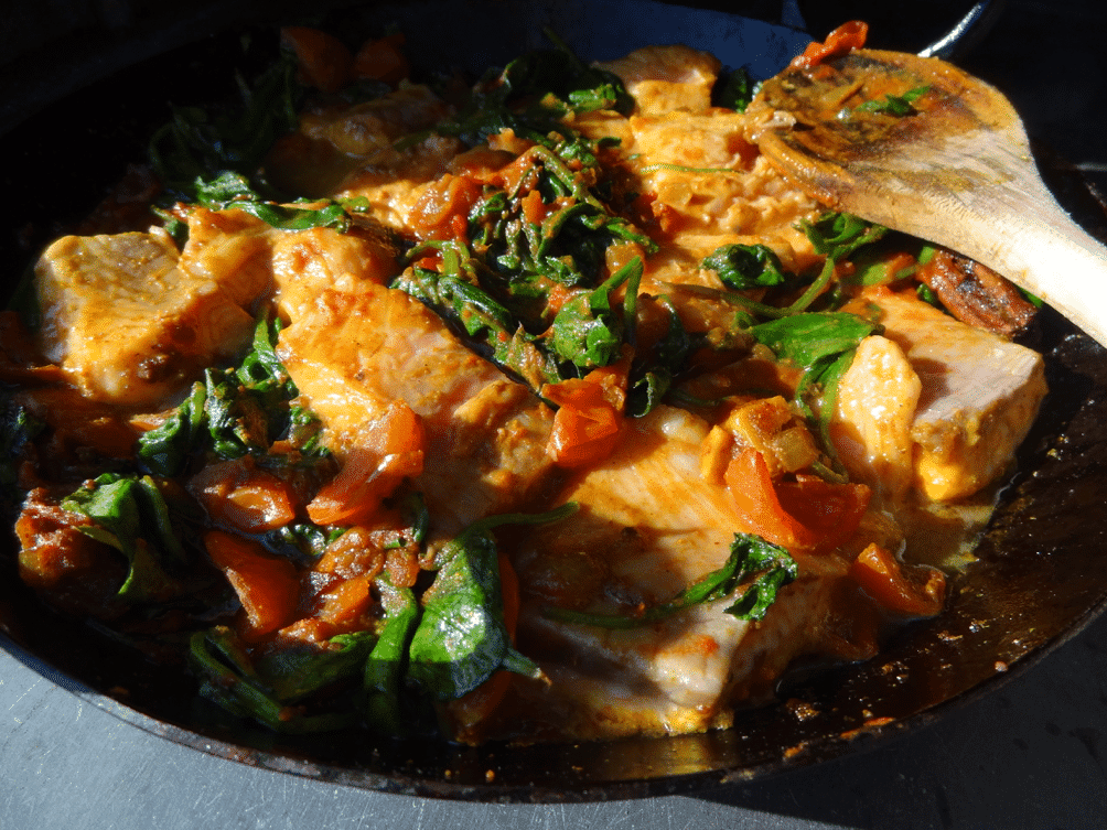 Mike & Pat's Wood Fired Salmon Curry