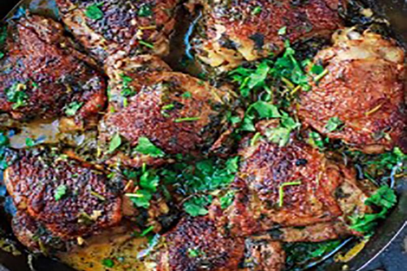Wood Fired Lime and Coriander Chicken Thighs