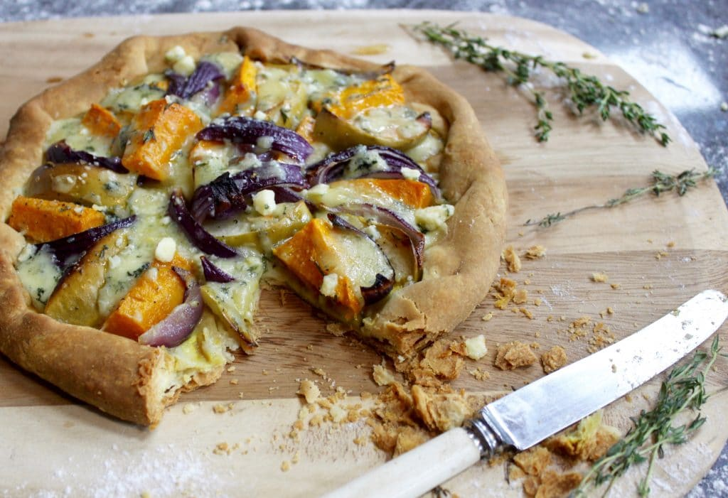 Wood Fired Squash, Apple, Red Onion and Blue Cheese Galette