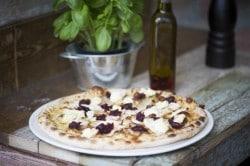 Turkey, Brie & Cranberry Pizza Bianco