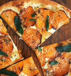 Pumpkin Topped Pizza With Crispy Sage