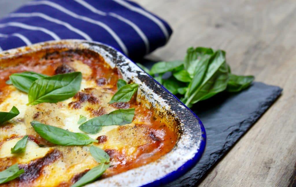 Wood fired Gnocchi Bake With Bacon, Tomato & Mozzarella