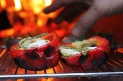 Stone Bake Pesto & Mozzarella Stuffed Peppers
