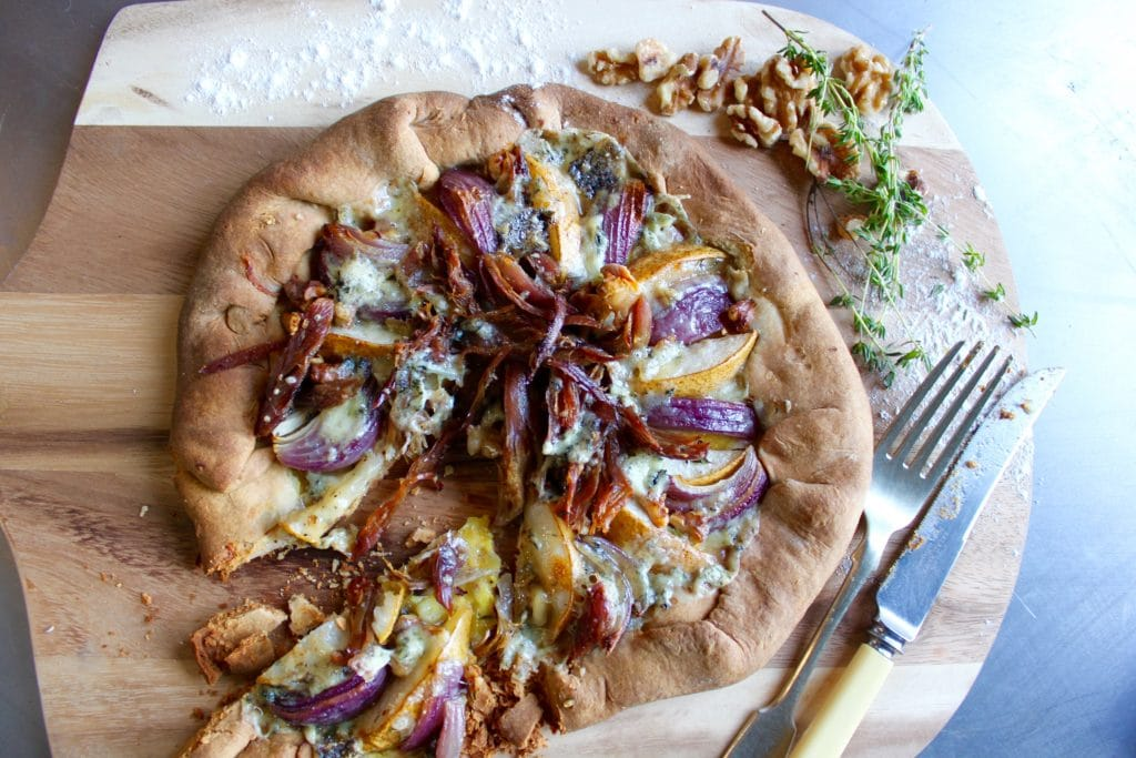 Duck, Pear, and Walnut Galette