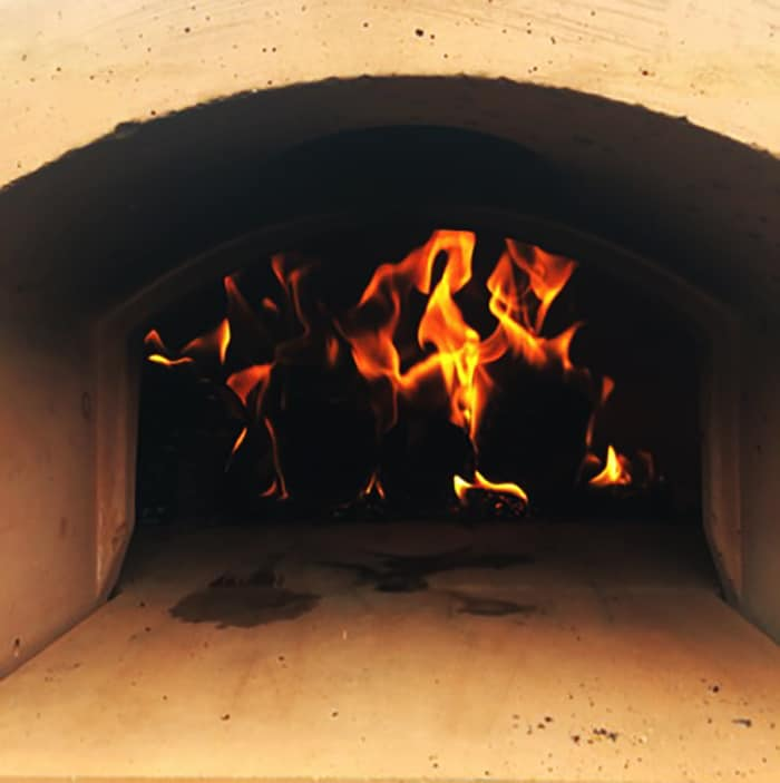 Fire instead stone bake oven