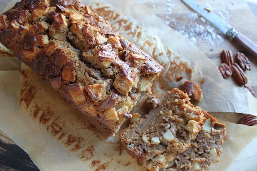 Sticky Apple and Ginger Pecan Loaf